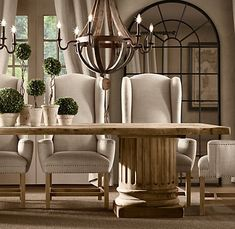 Restoration Hardware Trestle Table. Would Have To Do A Bench Because My  Boys Would Get Those Chairs Dirty Just Looking At Them. | Dining Room |  Pinterest ...