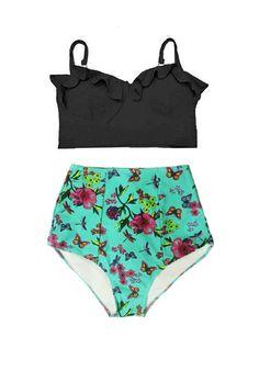 Trendy Swimwear, Cute Swimsuits, Bikini Swimwear, Bikinis, Midkini Tops, Retro Bathing Suits, Beach Wear, Polyvore, Pin Up
