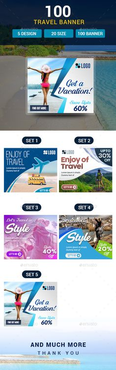 100 Travel Banners and Ads - #Banners & Ads #Web Elements