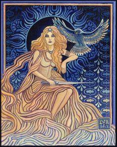Minerva by Emily Balivet ~ Mythological Goddess Art