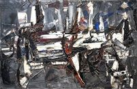 Sombre Noir by Jean Paul Riopelle. Follow the biggest painting board on Pinterest: www.pinterest.com/atelierbeauvoir