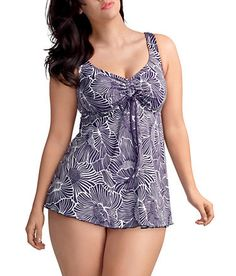 From Bare Plus - Meet Madeira by Elomi - wire-free with a  drawstring empire waistband creating a flattering silhouette.