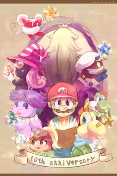 7 shining stars by Fusetsu (Paper Mario)