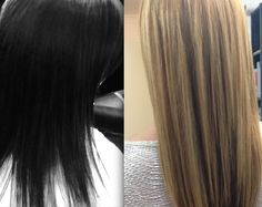 BLACK TO BLONDE 1 DAYS WORK BEFORE AND AFTER PICTURES  TERRY DUNN HAIRDRESSING  UK  01698 321068