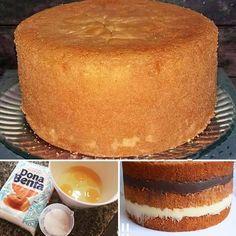Birthday Cake Dough- Massa de Bolo de Aniversário How about learning how to make cake batter … - My Recipes, Sweet Recipes, Cake Recipes, Dessert Recipes, Favorite Recipes, Love Eat, I Love Food, Portuguese Recipes, Food Cakes
