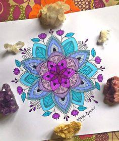 Mandala Art Therapy, Mandala Art Lesson, Mandala Painting, Mandala Drawing, 3d Drawing Pen, Floral Drawing, Art Drawings, Mandala Doodle, Doodle Art