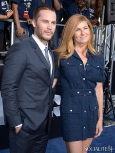 Taylor Kitsch and Connie Britton arrive at the premiere of 'Battleship' in LA