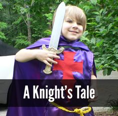 knight costume for dress up fun - easy model - great costume tutorial!