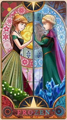 *PRINCESS ANNA & ELSA (The Snow Queen) ~ Frozen, 2013