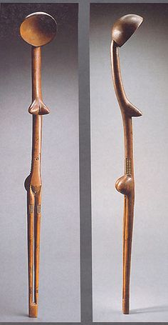 Spoon from the Zulu people of South Africa, at the Louvre Museum