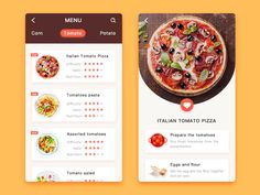A great UI is very important in mobile ui design. Having a good UI will help users accomplish any tasks easily and efficiently browse through the given info on a mobile app. Graphisches Design, App Ui Design, Menu Design, Food Design, Graphic Design, Ui Design Mobile, Mobile Ui, Fast Food Nutrition, Design Android