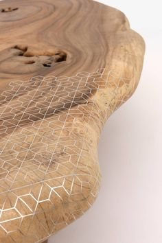 Organic + geometric coffee table by Nada Debs | Flodeau.com