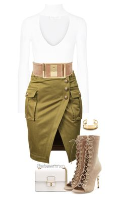Army green cotton military inspired pencil skirt with front slit detail. Designe… Army green cotton military inspired pencil skirt with fr. Skirt Outfits, Dress Skirt, Military Skirts, Button Skirt, Fashion Outfits, Womens Fashion, Fashion Trends, Brown Skirts, Cute Skirts