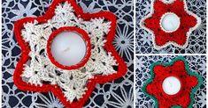 Waxinelichthouder Haakpatroon, gratis haakpatroon waxinelichthouders, gehaakte waxinelichthouders,ster kandelaarhouder, gehaakte ster kandelaarhouder,nederlands haakpatroon, gratis haakpatroon, Kerst haakpatroon, haken voor de Kerst, kerst kleuren, kerstpatroontjes, Crochet Christmas Ornaments, Christmas Crochet Patterns, Christmas Tea, Christmas Crafts, Christmas Decorations, Merry Christmas, Crochet Home, Crochet Motif, Diy Crochet