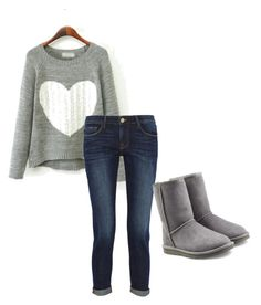 """""""Untitled #6"""" by skamradt ❤ liked on Polyvore featuring Frame Denim and UGG Australia"""