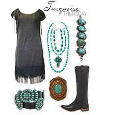 """""""turquoise 1"""" by elle-bo on Polyvore"""