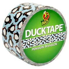 Duck 48mm x 9.1m Penguin Invasion Duck Tape