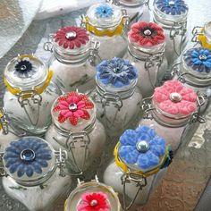 bridal shower favors ideas | Homemade bath salt bridal shower favors. Proud of myself.
