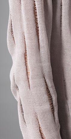 nice dropped stitch sweater detail