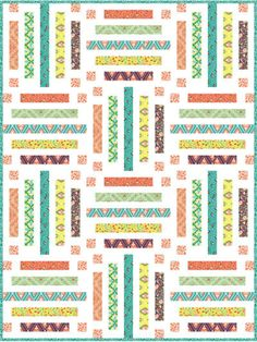 This fabulous quilt is vibrant and absolutely perfect for any beginner! Just grab your favorite colorful fat quarters, and you're halfway there to creating a quilt anyone is sure to love. Mix and match colors, patterns and textures -- you really can't go wrong! #quilt #quilting #affiliate