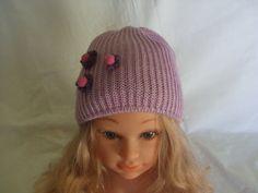 cappello beretto bimba lana maglia, by maglieria magica, 12,50 € su misshobby.com