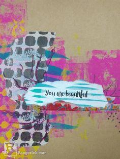 "You Are Beautiful Gift Bag by Samantha ""Scarlyton"" Carlton | www.rangerink.com"