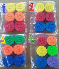 VEEL 6 vervanging munten Fisher Price compatibel kassa
