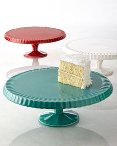 Quilted Cake Plates $48.00 www.CakeStandsGallery.com