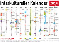 Der interkulturelle Kalender  Great for learning months, seasons and dates of festivals in Germany, and for talking about integration