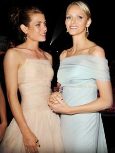 Royalty Daily:  Princess Charlene of Monaco and Charlotte Casiraghi (Princess Caroline's daughter)