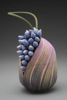 Kathleen Dustin | purse in polymer clay