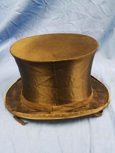 ANTIQUE  GERMAN SILK TOP HAT 1879  GERMAN GERMANY (Berlin Industrial Exposition) #TopHat