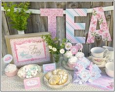 Tea+Party+Party+Supplies | Centerpieces For Bridal Shower Tables