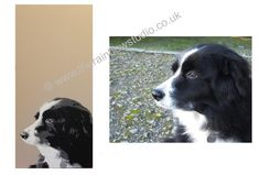 from a photo to a portrait painting with a contemporary twist. Commissions taken. www.therainbowstudio.co.uk
