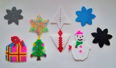 Bügelperlen Wintermotive (F, 2013) Crochet Earrings, Christmas Ornaments, Holiday Decor, Diy, Inventions, Crafts, Creative, Crafting, Bricolage