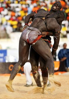 """kilele:  Wrestling In Senegal [Laamb] By Olivier Asselin  via androphilia:  History of Laamb Traditional wrestling, also known as """"La..."""