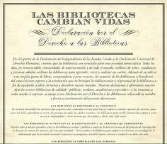 Declaración por el derecho a las bibliotecas de ALA, la asociación bibliotecaria de Estados Unidos