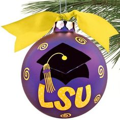 LSU Tigers Purple Graduation Cap Christmas Ornament! Check out all of the LSU Tigers Holiday decor here: http://pin.fanatics.com/COLLEGE_LSU_Tigers_Accessories_Holiday_Items/source/pin-lsu-holiday-decor-sclmp