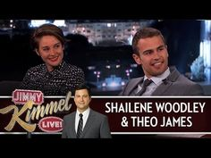 Shailene Woodley & Theo James on Jimmy Kimmel Live PART 1