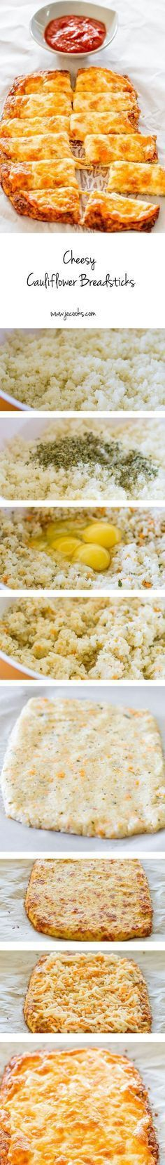 Cheesy Cauliflower Breadsticks – gluten free, low carb, cheesy cauliflower breadsticks! This recipe is a winner and a keeper!