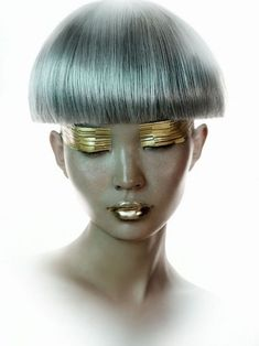 Futuristic makeup. A big set of pics