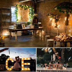 Decoracion nocturna para bodas Wedding Decorations, Table Decorations, Trees To Plant, Ideas Para, Wedding Inspiration, Wedding Ideas, Reception, Lights, Plants