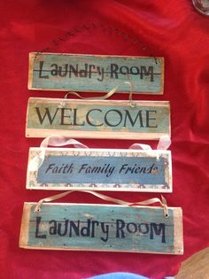 More small wooden signs