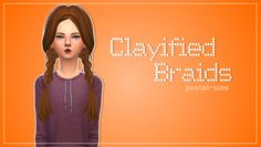 Clayified Braids by pastel sims*clayfied*[pastel-sims] Clayified Braids.package