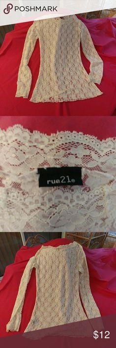 Rue 21 Lace long sleeve top Lace long sleeve top Rue 21 Tops