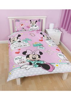 Minnie Mouse Makeover Single Bedding