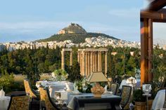 Lycabettus Hill view from the rooftop of the «Royal Olympic» Hotel