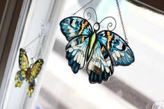 Glass butterfly decoration