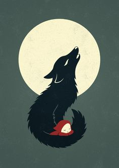 Little Red Riding Hood Art Print - by freeminds