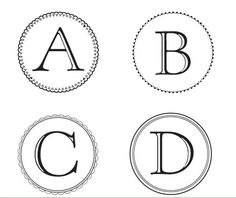 Free Monogram Letters you can download and use to make banners!